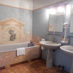 Appartement - Salle de bains avec mosaïque Chateau de Chissay - Hotels Particuliers K.P.