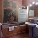 Supérieure - Salle de bains avec mosaïque - Chateau de Chissay - Hotels Particuliers K.P.