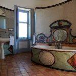 Superieure -Salle de bains avec mosaïque Chateau de Chissay - Hotels Particuliers K.P.